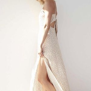 NEW Karlie Kloss Dot Print Tie Back Maxi Dress